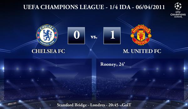 UEFA Champions League – 1/4 IDA – 06/04/2011 – Chelsea FC (0) vs. (1) Manchester United FC