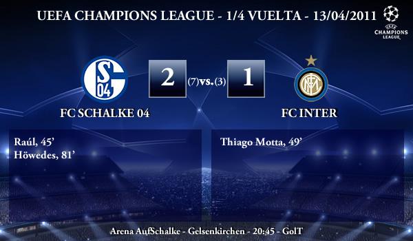 UEFA Champions League – 1/4 VUELTA – 13/04/2011 – FC Schalke 04 (2) vs. (1) FC Inter