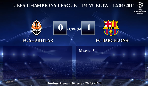 UEFA Champions League – 1/4 VUELTA – 12/04/2011 – FC Shakhtar Donetsk (0) vs. (1) FC Barcelona