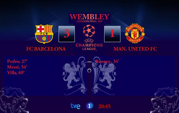 UEFA Champions League – FINAL – 28/05/2011 – FC Barcelona (3) vs. (1) Manchester United FC