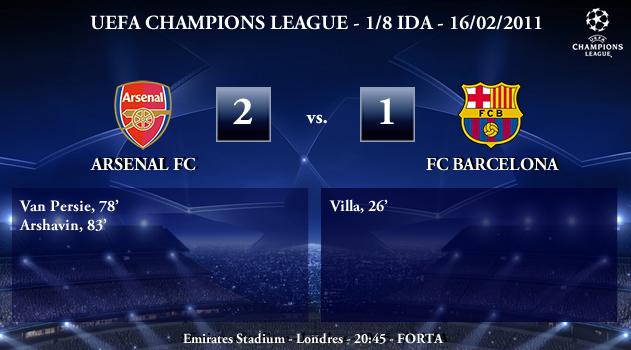 UEFA Champions League - 1/8 IDA - 16/02/2010 - Arsenal FC (2) vs. (1) FC Barcelona
