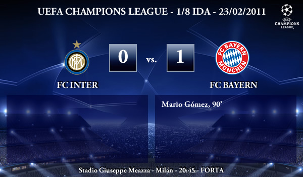 UEFA Champions League - 1/8 IDA - 23/02/2010 - FC Inter (0) vs. (1) FC Bayern München