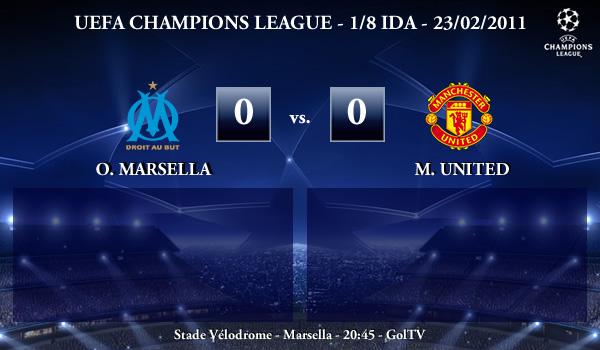 UEFA Champions League - 1/8 IDA - 23/02/2010 - Olympique Marsella (0) vs. (0) Manchester United FC