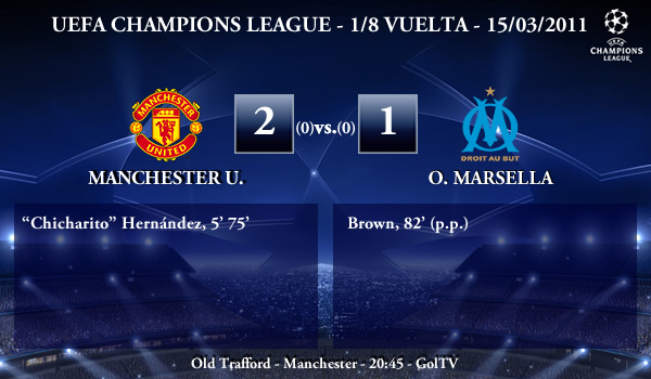 UEFA Champions League – 1/8 VUELTA – 15/03/2011 – Manchester United FC (2) vs. (1) Olympique Marsella