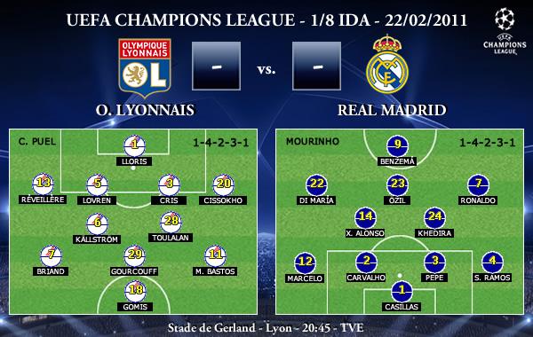 UEFA Champions League - 1/8 IDA - 22/02/2011 - Olympique Lyonnais vs. Real Madrid CF