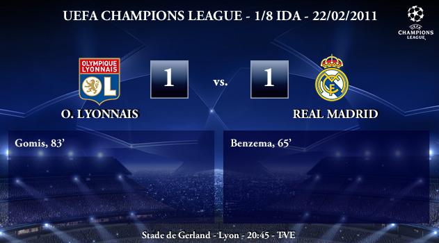 UEFA Champions League – 1/8 IDA – 22/02/2010 – Olympique Lyonnais (1) vs. (1) Real Madrid CF