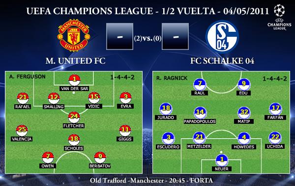 UEFA Champions League – 1/2 VUELTA – 04/05/2011 – Manchester United FC vs. FC Schalke 04