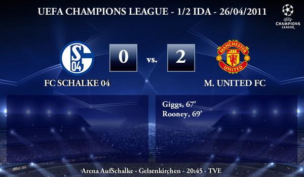 UEFA Champions League – 1/2 IDA – 26/04/2011 – FC Schalke 04 (0) vs. (2) Manchester United FC