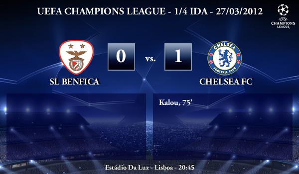 UEFA Champions League – 1/4 IDA – 27/03/2012 – SL Benfica (0) vs. (1) Chelsea FC