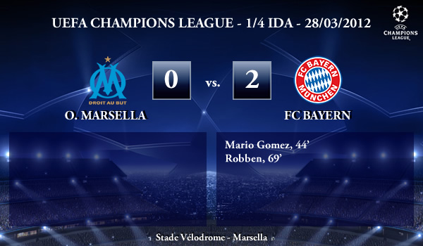 UEFA Champions League – 1/4 IDA – 28/03/2012 – O. Marsella (0) vs. (2) Bayern München