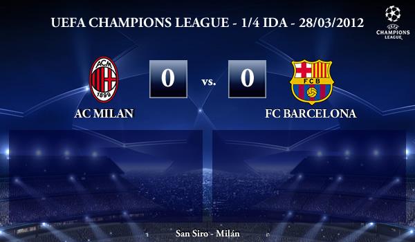 UEFA Champions League – 1/4 IDA – 28/03/2012 – AC Milan (0) vs. (0) FC Barcelona