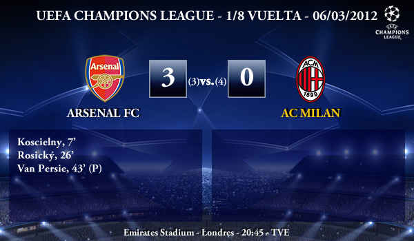 UEFA Champions League – 1/8 VUELTA – 06/03/2012 – Arsenal FC (3) vs. (0) AC Milan