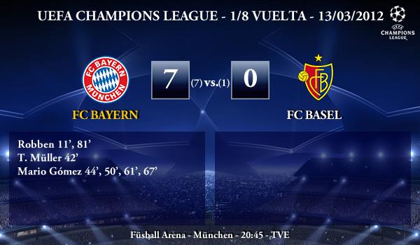 UEFA Champions League – 1/8 VUELTA – 13/03/2012 – FC Bayern (7) vs. (0) FC Basel