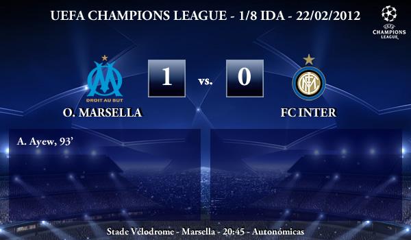 UEFA Champions League – 1/8 IDA – 22/02/2012 – O. Marsella (1) vs. (0) FC Inter