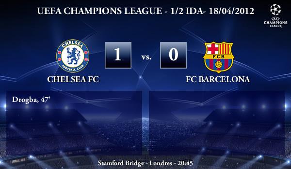 UEFA Champions League – 1/2 IDA – 18/04/2012 – Chelsea (1) FC vs. (0) FC Barcelona