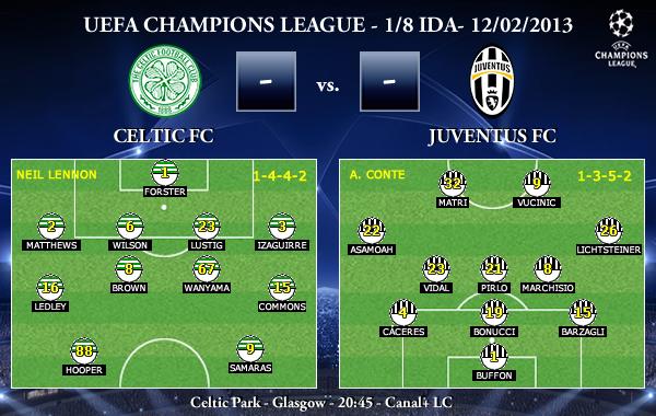 UEFA Champions League - 1/8 IDA - 12/02/2012 - Celtic FC vs. Juventus FC