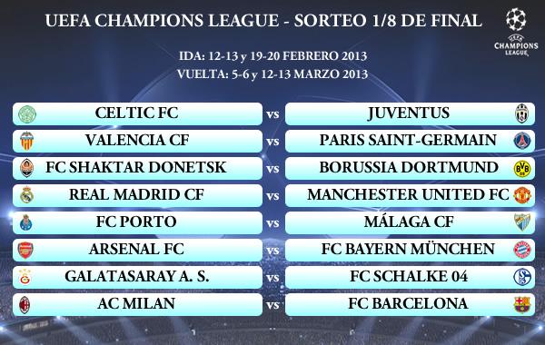 UEFA Champions League 12/13 - Sorteo 1/8 de Final ⋆ ivanbasten.com ...