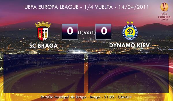 UEFA Europa League – 1/4 VUELTA – 14/04/2011 – SC Braga (0) vs. (0) Dynamo Kiev