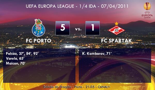 UEFA Europa League – 1/4 IDA – 07/04/2011 – FC Porto (5) vs. (1) FC Spartak Moscú