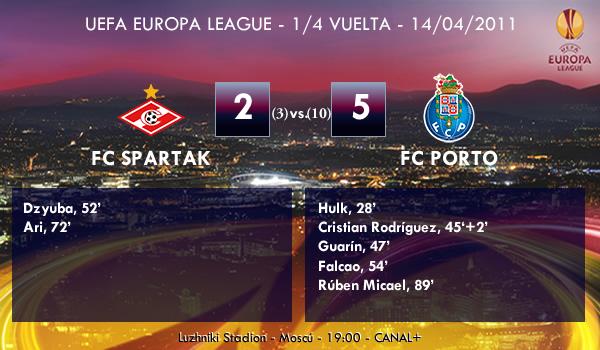 UEFA Europa League – 1/4 VUELTA – 14/04/2011 – FC Spartak Moscú (2) vs. (5) FC Porto