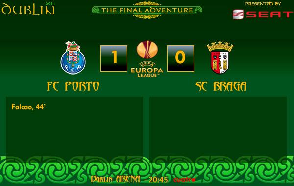 UEFA Europa League – FINAL – 18/05/2011 – FC Porto (1) vs. (0) SC Braga