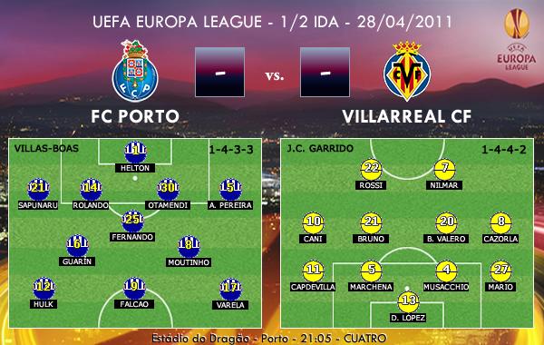 UEFA Europa League – 1/2 IDA – 28/04/2011 – FC Porto vs. Villarreal CF
