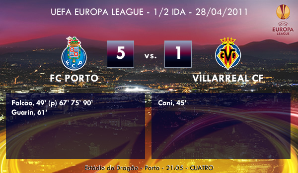 UEFA Europa League – 1/2 IDA – 28/04/2011 – FC Porto (5) vs. (1) Villarreal CF