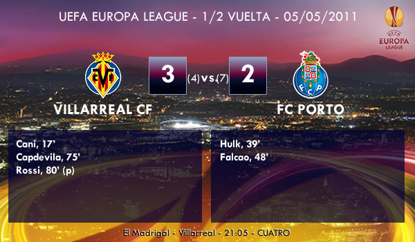 UEFA Europa League – 1/2 IDA – 05/05/2011 – Villarreal CF (3) vs. (2) FC Porto