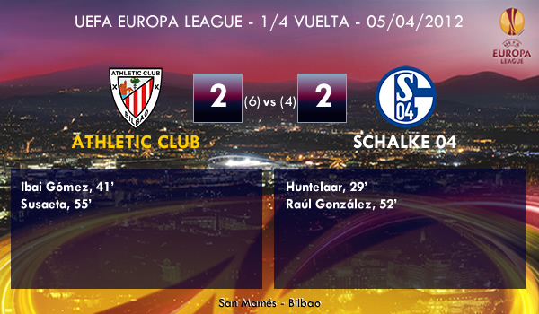 UEFA Europa League – 1/4 VUELTA –  05/04/2012 – Athletic (2) vs. (2) Schalke 04