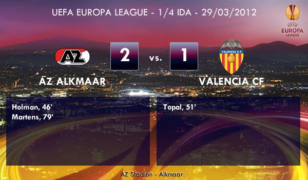 UEFA Europa League – 1/4 IDAA –  29/03/2012 – AZ Alkmaar (2) vs. (1) Valencia CF