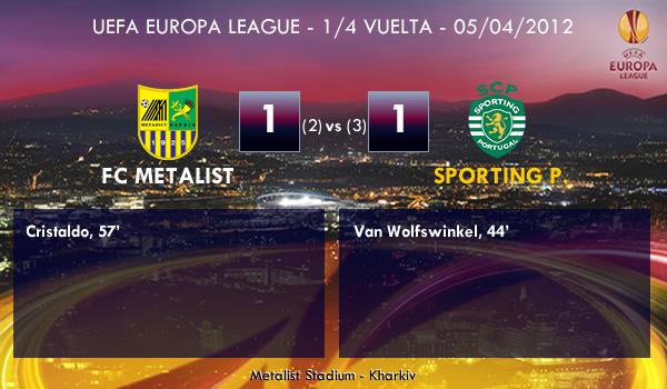 UEFA Europa League – 1/4 VUELTA –  05/04/2012 – FC Metalist (1) vs. (1) Sporting Portugal