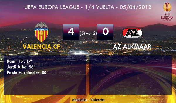 UEFA Europa League – 1/4 VUELTA –  05/04/2012 – Valencia CF (4) vs. (0) AZ Alkmaar