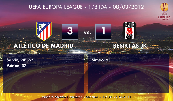UEFA Europa League – 1/8 IDA – 08/03/2012 – Atlético de Madrid (3) vs. (1) Besiktas JK