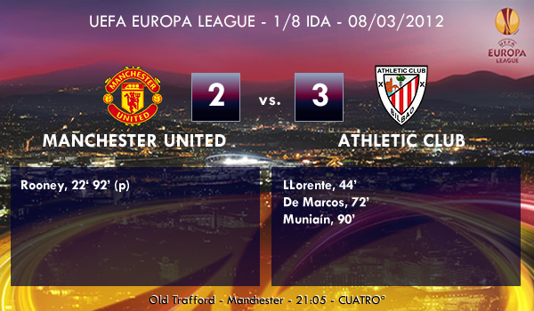 UEFA Europa League – 1/8 IDA – 08/03/2012 – Manchester United (2) vs. (3) Athletic Club