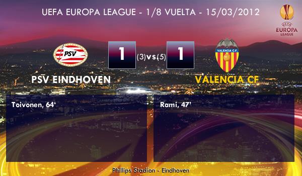 UEFA Europa League – 1/8 VUELTA – 15/03/2012 – PSV Eindhoven (1) vs. (1) Valencia CF