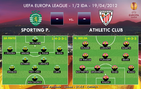 UEFA Europa League – 1/2 IDA – 19/04/2012 – Sporting Portugal vs. Athletic Club