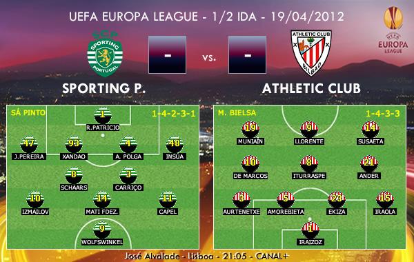UEFA Europa League – 1/2 IDA – 19/04/2012 – Sporting Portugal vs. Athletic Club