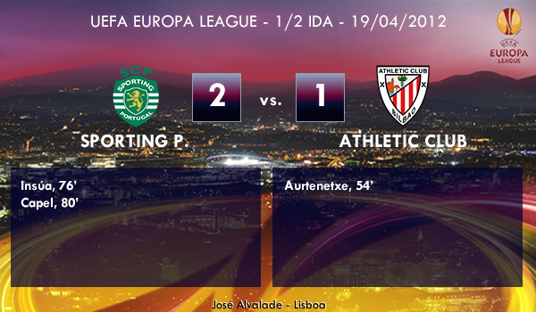 UEFA Europa League – 1/2 IDA – 19/04/2012 – Sporting Portugal (2) vs. (1) Athletic Club