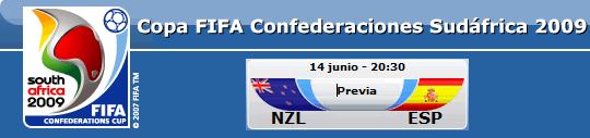 FIFA Copa Confederaciones Sudáfrica 2009 - N.Zelanda vs. España
