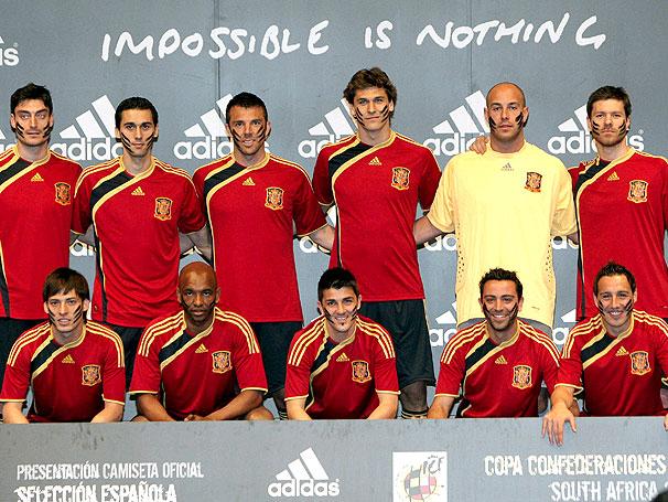 Presentación de la equipación de la Seleccion Española para la FIFA Copa Confederaciones Sudáfrica 2009