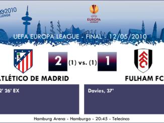 Europa League Final Hamburgo 2010 - Atlético de Madrid 2-1 Fulham FC