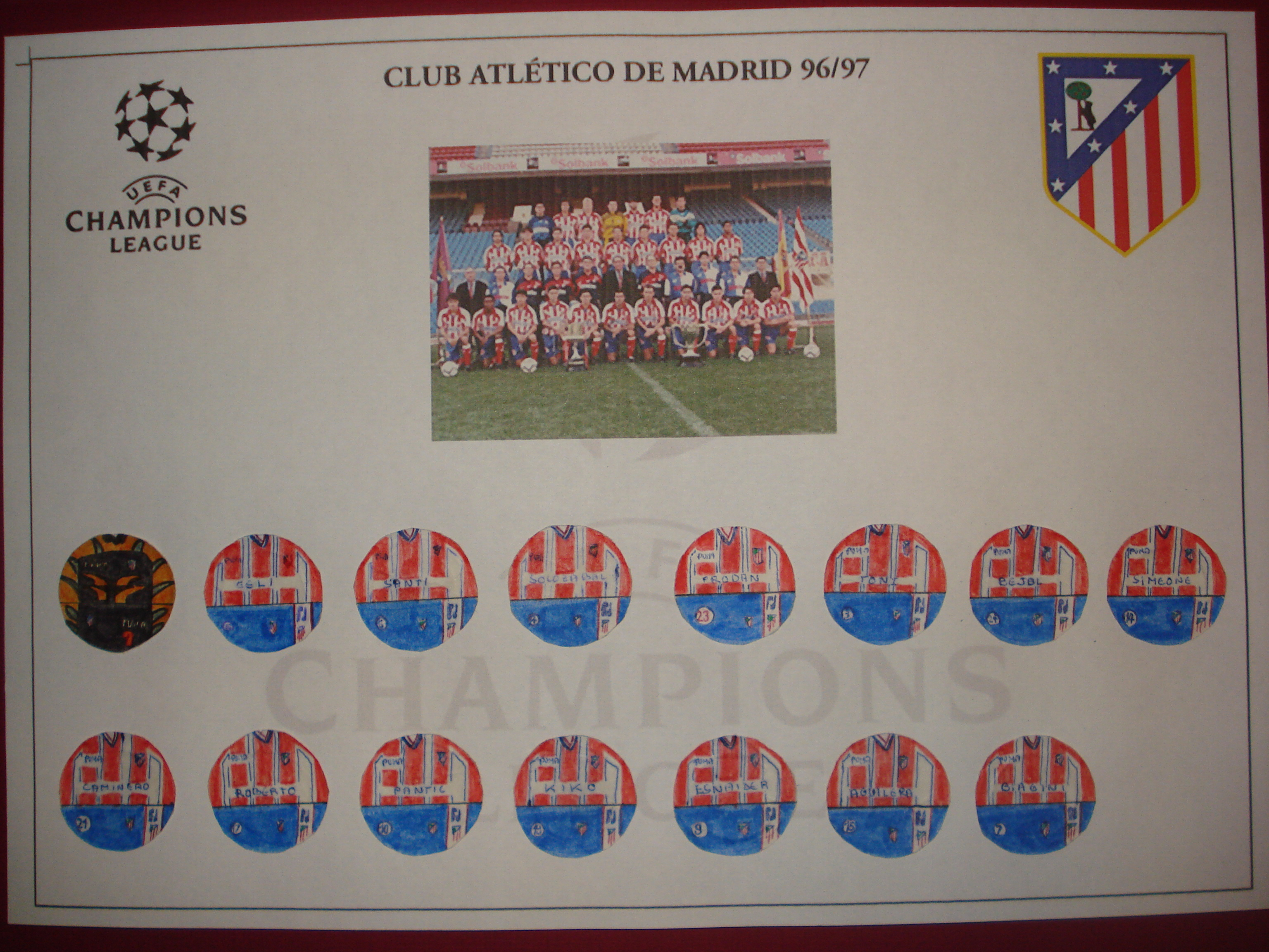 Club Atlético de Madrid 96/97 UEFA Champions League