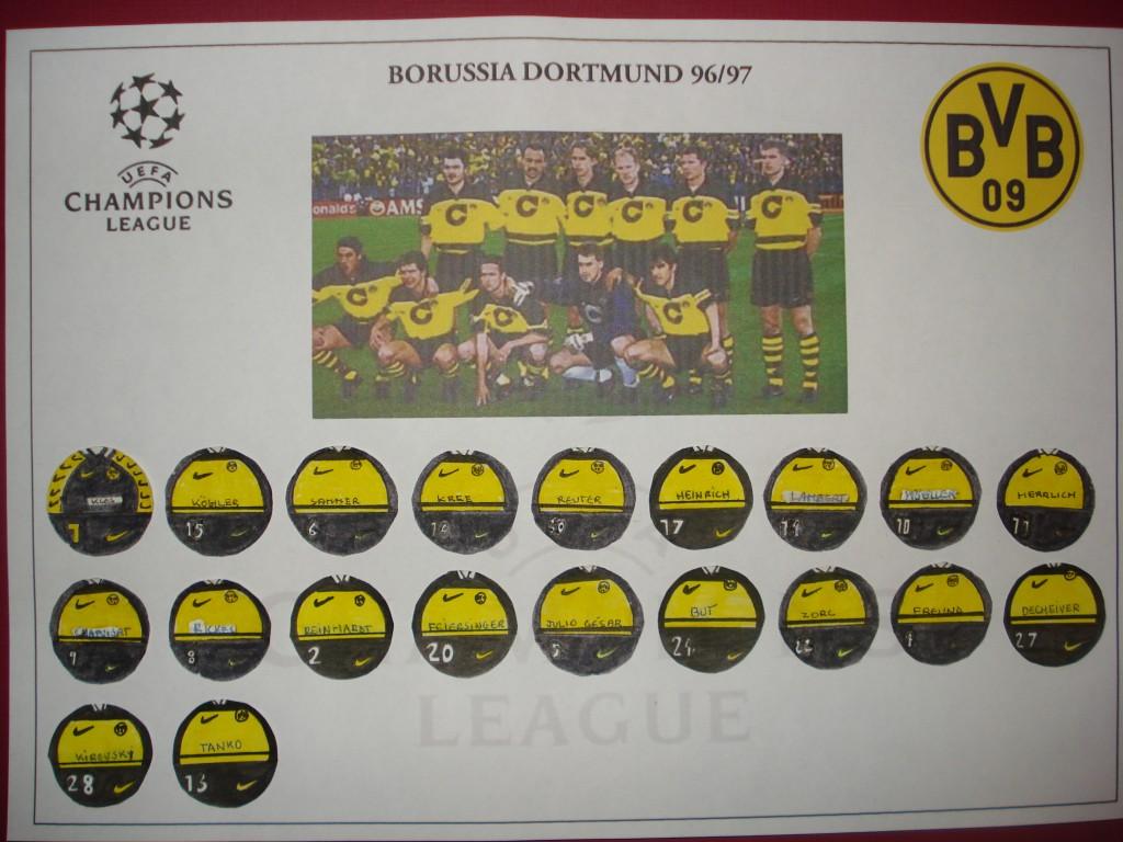 Borussia Dortmund, campeón de la UEFA Champions League 96/97