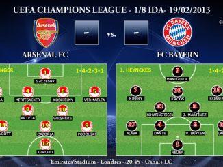 UEFA Champions League - 1/8 IDA - 19/02/2013 - Arsenal vs. Bayern München (Previa)