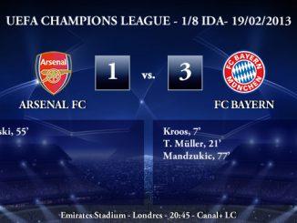 UEFA Champions League - 1/8 IDA - 19/02/2013 - Arsenal (1) vs. (3) Bayern München