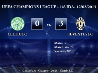UEFA Champions League - 1/8 IDA - 12/02/2013 - Celtic FC (0) vs. (3) Juventus FC