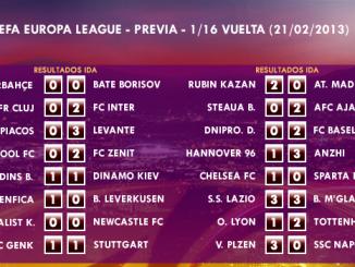 UEFA Europa League – 1/16 VUELTA – 20/02/2013 – Previa