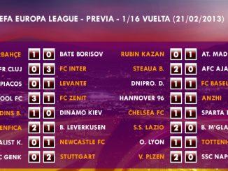 UEFA Europa League – 1/16 VUELTA – 20/02/2013 – Resultados
