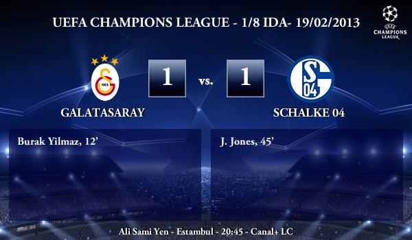 UEFA Champions League - 1/8 IDA - 20/02/2013 - Galatasaray (1) vs. (1) Schalke 04