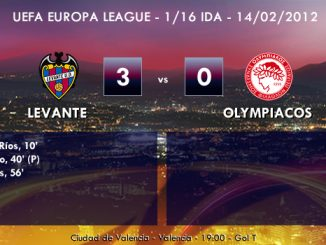 UEFA Europa League – 1/16 IDA – 14/02/2013 - Levante (3) vs. (0) Olympiacos
